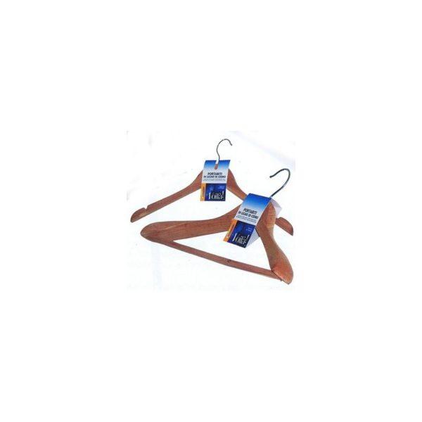 Вешалка «Антимоль» из красного кедра с перекладиной плечики