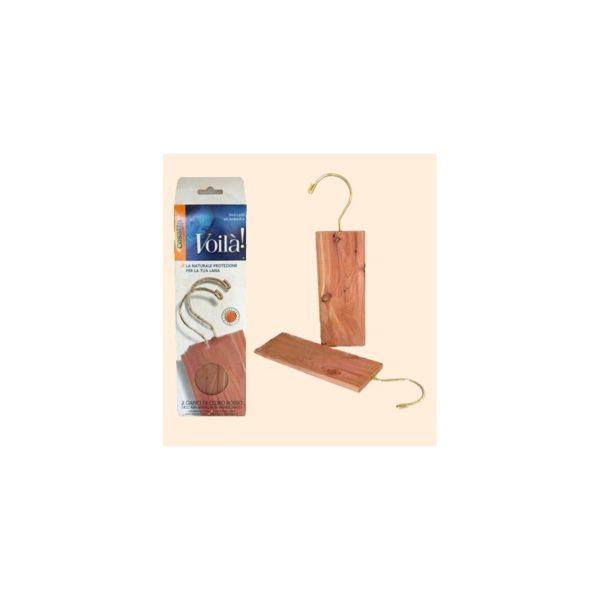 Вешалки «Антимоль» из красного кедра (2шт)